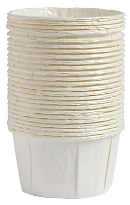 White Pleated Nut Cups, 24ct