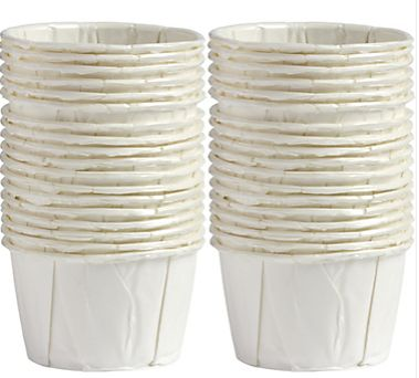 Mini White Pleated Nut Cups, 36ct