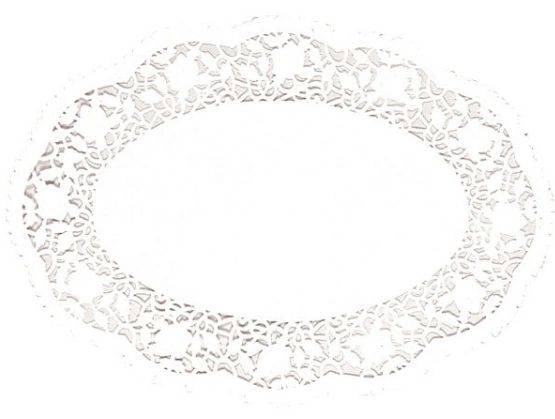 "White Oval Doilies, 10 1/4"" x 14"" - 8ct"