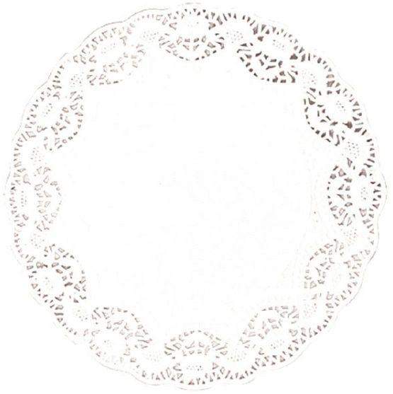 """White Round Doilies, 5"""" - 40ct"""