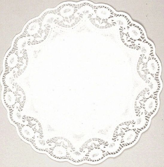 "White Round Doilies, 10"" 56ct"