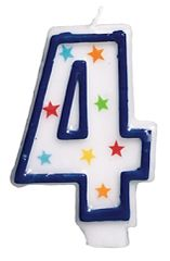 #4 Birthday Star Flat Molded Candle