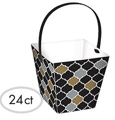 Black, Gold & Silver Basket & Handles, 24ct