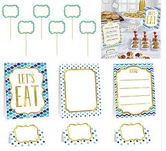 Blue Buffet Decorating Kit, 12pc