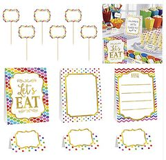 Bright Rainbow Buffet Decorating Kit, 12pc