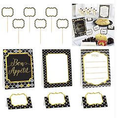 Buffet Decorating Kit - Black, 12pcs
