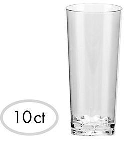 Mini CLEAR Plastic Cordial Glasses, 10ct