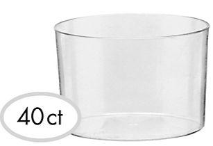 Mini Bowls - Clear, 2oz - 40ct