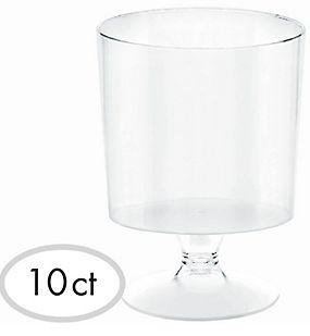 Mini Pedestal Cup - Clear, 5oz - 10ct