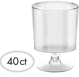 Mini CLEAR Plastic Footed Bowls, 2oz - 40ct