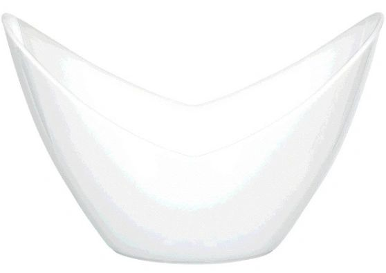 Mini White Plastic Oval Bowls, 10ct