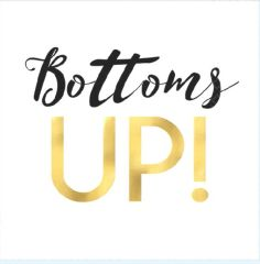 """Bottoms Up"" Beverage Napkins, 16ct"