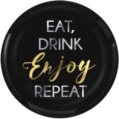 """Eat, Drink, Enjoy, Repeat"" Premium Plastic Dessert Plates, 20ct"