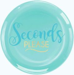 """Seconds Please"" Premium Plastic Dessert Plates, 20ct"