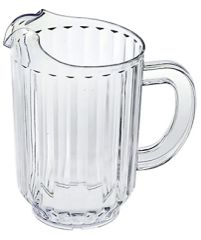 CLEAR Plastic Pitcher, 64oz
