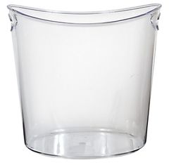 CLEAR Plastic Oval Ice Bucket w/ Recessed Handles