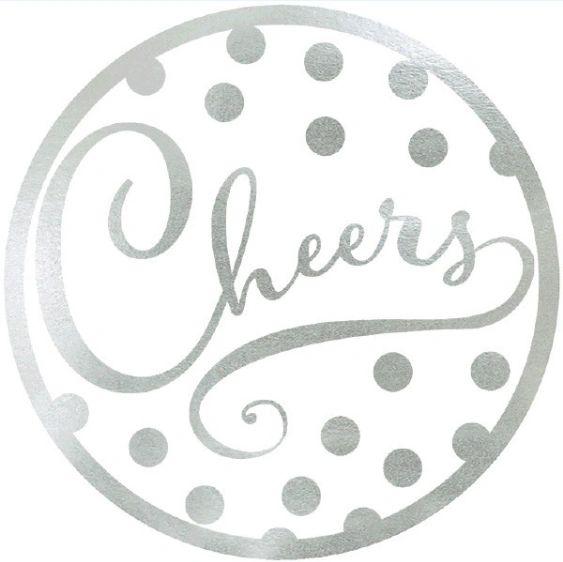 """Cheers"" Coasters, 18ct"