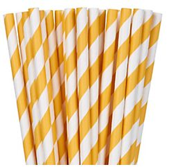 Paper Straws, Low Count - Yellow Sunshine, 24ct