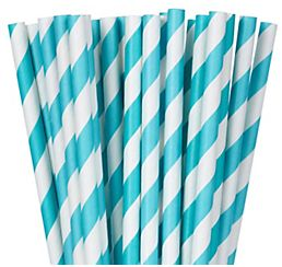 Paper Straws, Low Count - Robin's-Egg Blue, 24ct