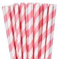 Paper Straws, Low Count - New Pink, 24ct