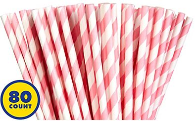 Paper Straws, High Count -New Pink, 80ct
