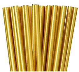 Paper Straws - Gold, 24ct