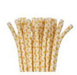Gold Diamond Flexible Paper Straws, 24ct