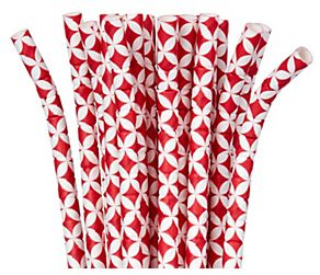 Red Diamond Flexible Paper Straws, 24ct