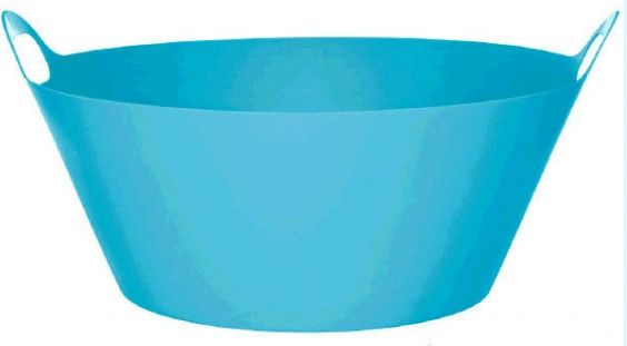 Caribbean Blue Plastic Party Tub