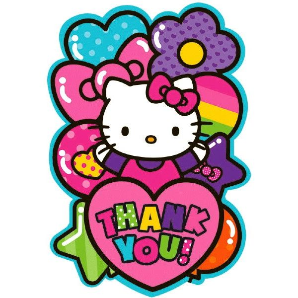 Hello Kitty Rainbow® Postcard Thank You Cards, 8ct