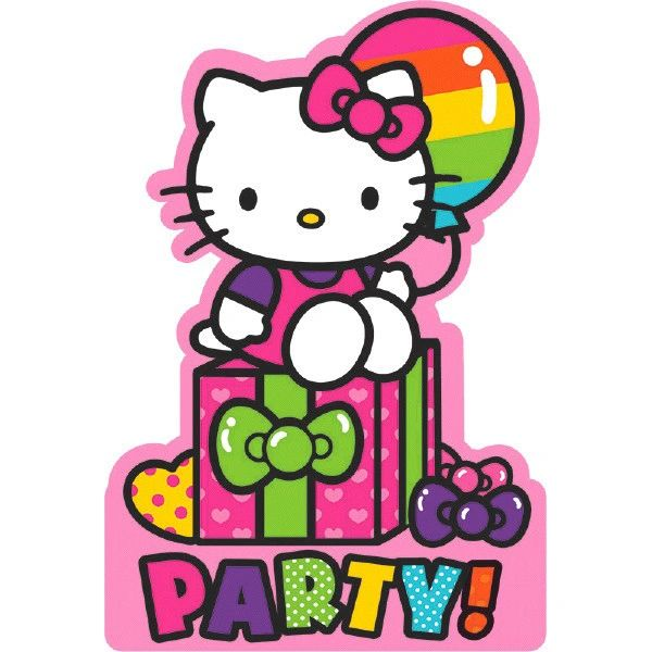 Hello Kitty Rainbow® Invitations, 8ct