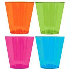 Big Party Pack Black Light Neon Shot Glasses, 100ct