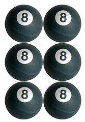 8 Ball Pong Balls, 6ct