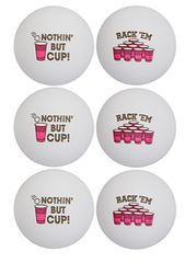 Pong Ball - Red Cup Icon, 6ct