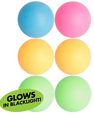 Black Light Neon Pong Balls, 6ct