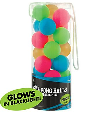 High Count Pong Balls Neon, 24ct