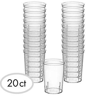 Big Party Pack CLEAR Plastic Shooter Glasses, 1.5oz - 20ct