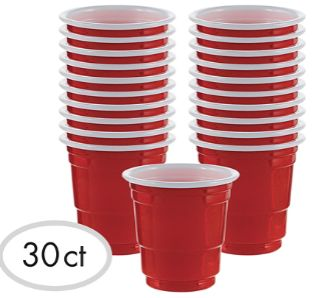 Shot Glasses - Red, 2oz - 30ct