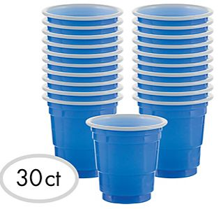 Shot Glasses - Bright Royal Blue, 2oz - 30ct