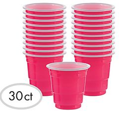 Shot Glasses - Bright Pink, 2oz - 30ct