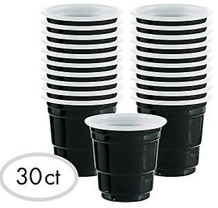 Shot Glasses - Black, 2oz -30ct