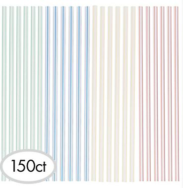 Plastic Straw Stirrers, 150ct