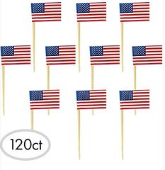 American Flag Picks, 120ct
