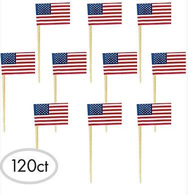 American Flag Picks, 120ct