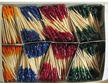 Sandwich Frills Assorted Picks, 1000ct