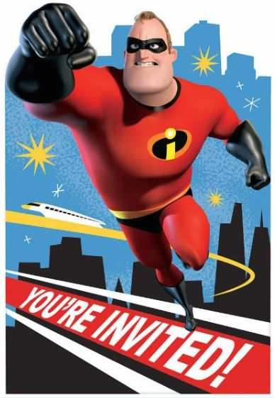 ©Disney/Pixar Incredibles 2 Postcard Invitations, 8ct