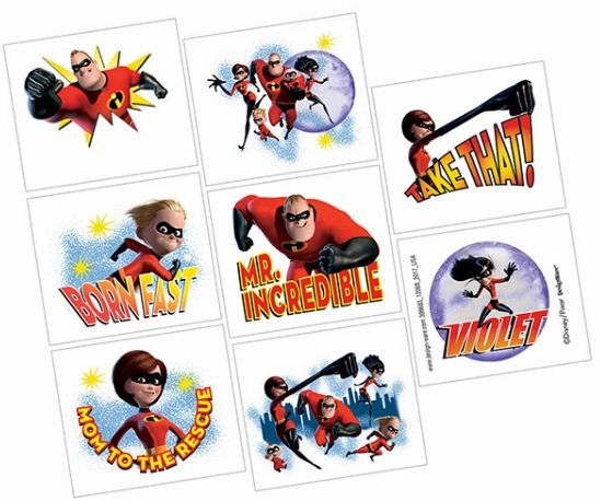 ©Disney/Pixar Incredibles 2 Tattoos, 8ct