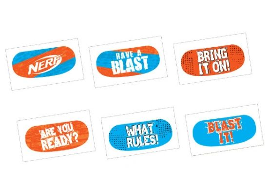 Nerf® Face Tattoo Favors