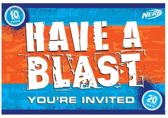 Nerf® Postcard Invitations, 8ct