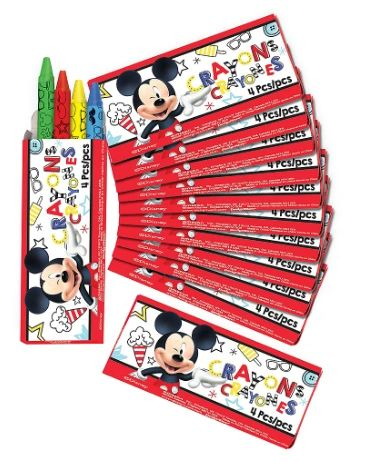 ©Disney Mickey on the Go Packaged Crayons, 12ct